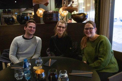 Der fikk altså Stine Nermo (28), Siril Valberg (28) og Carl Ninian Wika (25).