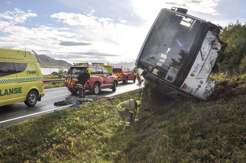 Ulykken skjedde på E10 i Vestvågøy i 2017.