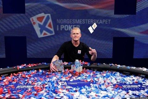 Norgesmester: Preben Stokkan fra Harstad vant hovedturneringen under poker-NM i 2016. Nå jakter han tidenes skalp, som kan sikre han opp mot 85 millioner kroner. FOTO: Tomas Stacha