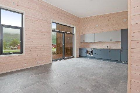 Nye leiligheter: Seks splitter nye leiligheter i tre ulike størrelser ligger nå ute til salgs.