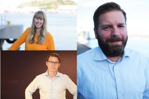 Eivind Undrum Jacobsen (t.h.) blir regionredaktør for Nordland, Troms og Finnmark. Adrian Dahl Johansen og Hilde Lorentsen får også fått nye stillinger i NRK-systemet.
