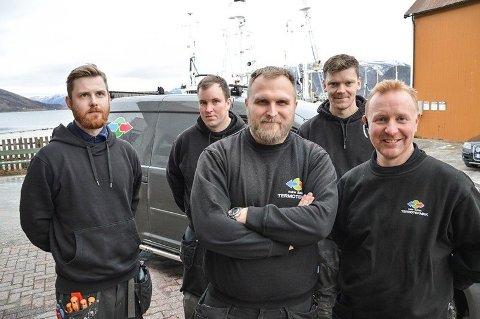 Fra venstre: Aleksander Lian, Rune Kristensen, Marius Alexander Næstby, Jonas Nordeng og Ben-Remy Molid.