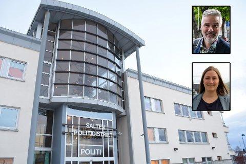 Steinar Aas og Merete Nordheim er uenig om politiets flytteplaner.