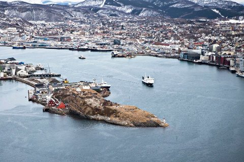 FYLKESHOVEDSTADEN: Bodø sett ovenfra.