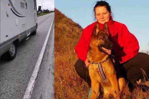 Line Marie Sørum (29) frykter at det skal skje en alvorlig ulykke før innbyggerne får gang- og sykkelsti på Godøy.