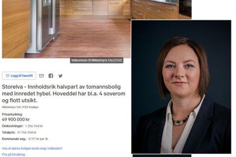 TABBE: Megler Åse Hansen gjorde en aldri så liten tabbe da hun la ut boligannonsen til tomannsboligen på Storelva fredag.