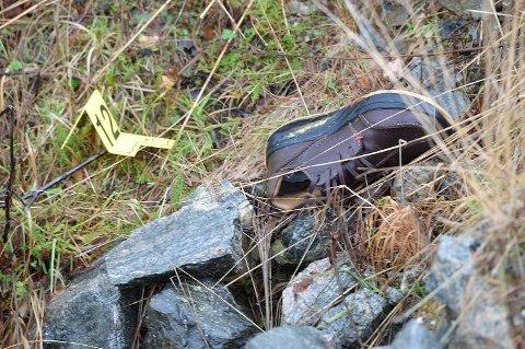 Reidar Osens sko ble funnet i Hausdalen onsdag formiddag.