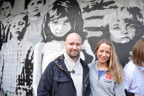 BARTs Petter Nord tente da Psychaid-leder Hanna Øiestad Damskau inviterte dem til å være med på aksjonen. Resultatet ble en hel gatekunstvegg.