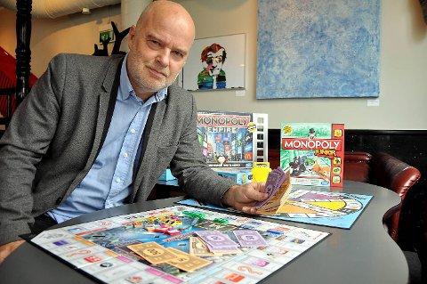 Bergen Spillfestival-sjef Jan Arild Breistein anbefaler brettspill som Trivial Pursuit og Monopol. Selv skulket han skolen som syvåring for å spille Monopol, og nå lever han av quiz og spill.