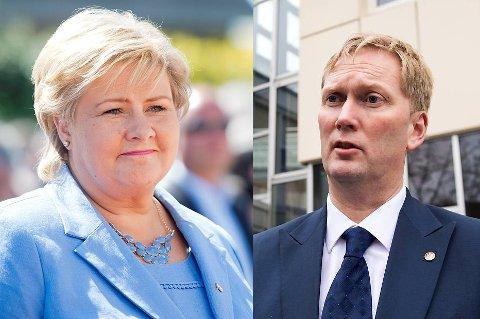 Byrådsleder Harald Schjelderup har fått svar fra statsminister Erna Solberg. (Arkivfoto: Magne Turøy/Rune Johansen)