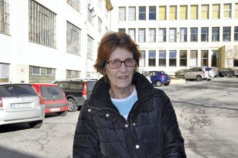 Solveig Irene Haugen (65) har jobba 26 år på Janus og tjener 165 kr. timen eller 280-290.000 i året.FOTO: DAG BJØRNDAL