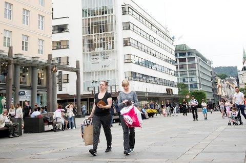 Statistikken gir grunn for optimisme for handelsstanden i Bergen sentrum.