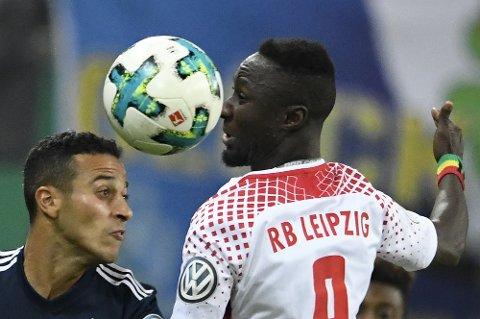 Leipzig og Naby Keita (t.h.) må ta mer poeng enn Porto for å gå videre i Mesterligaen.