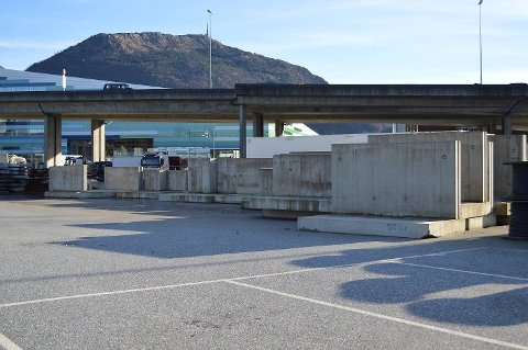 Betongblokkene er endelig fjernet fra Nygårdstangen. FOTO: TOM R. HJERTHOLM