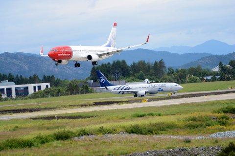 Norwegian-fly på Flesland.