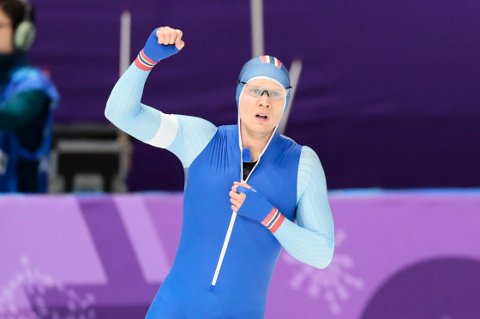Håvard Holmefjord Lorentzen (25) tok OL-sølv på 1000 meter.