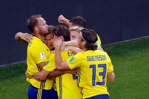 Sverige banket Mexico og vant gruppen.