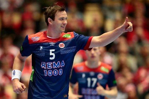 Norge er avhengig av at de beste spillerne leverer i fredagens kamp. Det hviler et tungt ansvar på skuldrene til PSG-stjernen Sander Sagosen.  Foto: Lise Åserud / NTB scanpix
