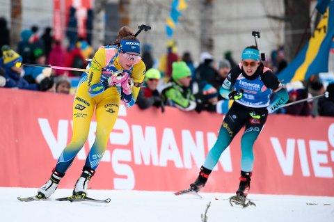 vñSTERSUND, SVERIGE 20190312. Hanna vñberg (SWE) i aksjon pv normaldistanse for kvinner i VM Skiskyting 2019 i vñstersund, Sverige. Foto: Lise vÖserud / NTB scanpix