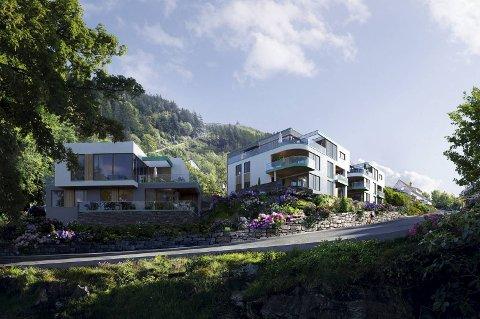 Bybo bygger ti leiligheter i Skansemyrveien 4. 1500 personer har meldt sin interesse for leilighetene.