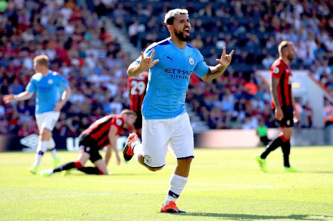 Ustoppelige Sergio Aguero scoret to av målene for City i 3-1 seieren borte mot Bournemouth sist lørdag og er allerede oppe i fire seriemål denne sesongen.