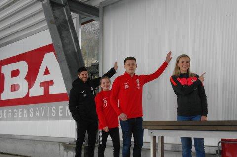 Erik Mjelde, Lisa Fadnes, Øystein Aksnes og Helene Gloppen skal opp på veggen - trolig med flere hundre andre.