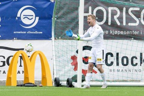 Eirik Østgaard storspilte i sluttminuttene av oppgjøret mot Stjørdals-Blink mandag kveld.