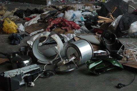 Avfall som er blitt levert som papp og papir.