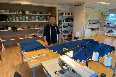 Svein Åge Risheim har drevet Båtkalesjer AS siden 2013,