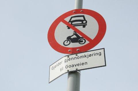 Få kontroller: Sist det ble foretatt organisert kontroll av gjennomkjøringsforbudet i Viste Hageby var i april 2019.
