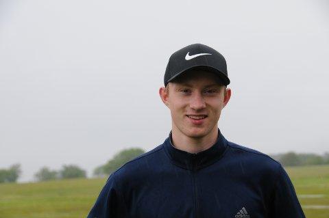 Hjemmebane: Ett år etter at interessen for golf blusset opp igjen er Magnus Bjørkelund Kaasen klar for sin første turnering.