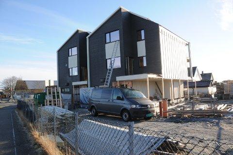 Fra byggingen av boligprosjektet Vistehøyden.