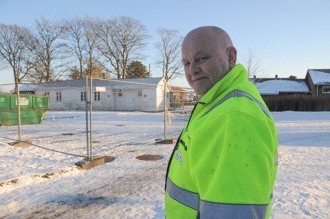 Klar for riving: Frode Byberg er blant hovedpersonene i Byberg Maskin, som har fått i oppdrag å rive RAMA-huset, og det vil skje enten i slutten av neste uke eller i begynnelsen av uka deretter.