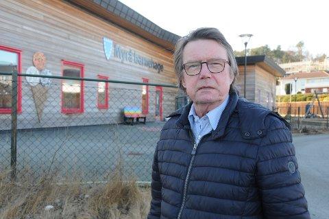Beredskapssjef: Jan-Kåre Ruud i Randaberg kommune, her ved Myrå barnehage, som siste uken var utsatt for hærverk igjen.
