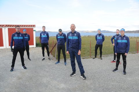 Grødem Runners: Idar Kolnes Goa (t.v.), Per Krister Goa, Tom Erik Håland, Rolf Tore Sande, Rune Helgeland, Erlend Prestegård, Espen Soland Lundervoll og Tormod Klüver.