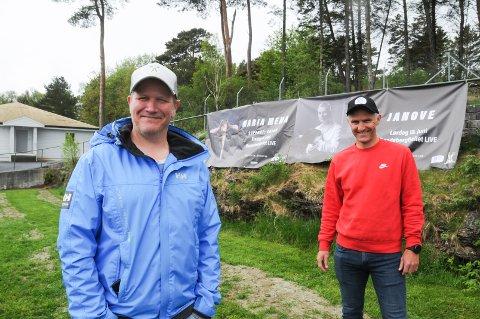 Spente festivalarrangører: Morten Andersen (t.v.) og Per-Erik Haga forteller artisten Janove kommer til Randabergfjellet LIVE lørdag 19. juni.
