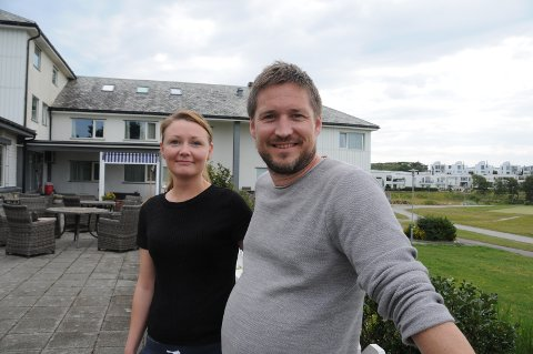 Startet Norgesferie: Ida og Martin Slethei fra Tananger vant en natt på hotellet, som ble en fin begynnelse på årets sommerferie.