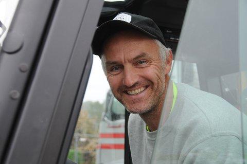 Grunn til å smile: Per-Erik Haga gleder seg over at det er god aktivitet i bedriften PS Selskapsutleie.