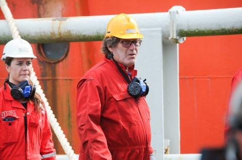 Ikke bra: Frederic Hauge var på Bru kai torsdag. Han mente at tilstanden til de to skipene som ligger i opplag kan være noe av det verste han har sett.