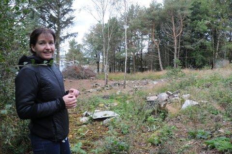 Atkomst. Hit ønsker Gina Kittilsen å bygge vei slik at hennes to hyttetomter kan bli knyttet sammen og få god atkomst også med bil.