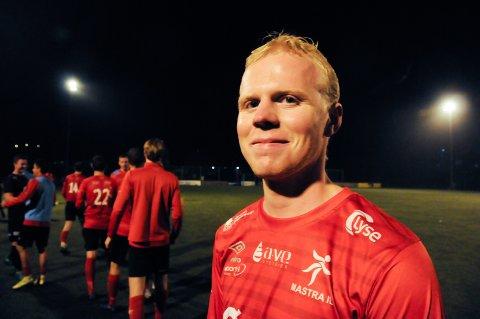 Nykommer: Gabriel Ulvik Hagen synes det var deilig å få åpne målkontoen for Mastra på Randaberg mandag kveld.