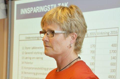 ADVARER POLITIKERNE: Hege Vollan, leder av Utdanningsforbundet i Modum, ser at kuttforslaget vil få alvorlige konsekvenser, med økte klassestørrelser på én lærer.Arkivfoto