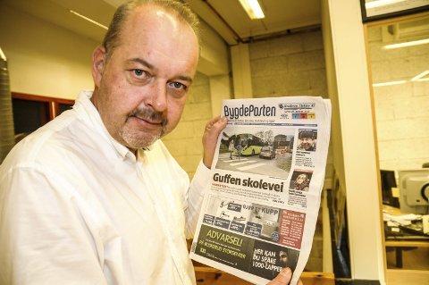 Lei seg: Knut Bråthen liker dårlig at avisene ikke blir levert som de skal.