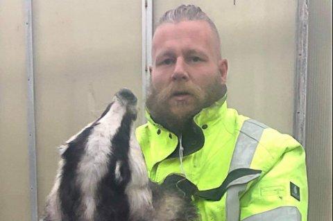 UTE PÅ JAKT: Kenneth Trollerud var ute for å jakte på Mikkel rev, men det var et helt annet dyr som kom tuslende.