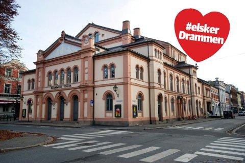 VAKKERT: Drammens Teater viser seg fram i sin fineste drakt.