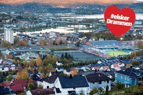 RIK PÅ DRAMMENSERE: Drammen er flott, men aldri flottere enn summen av sine 65.000 innbyggere.
