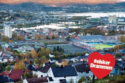 MARIENLYST: Oversiktsbilde over hele Marienlyst-området tatt fra bunnen av Haukåsløypa. Så mange muligheter samlet på et såpass lite område. Unikt. Heldige er vi i Drammen.