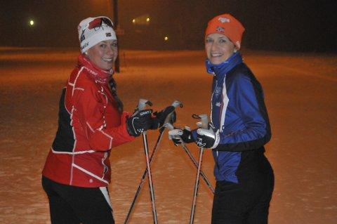 Klare for renn: Ane Norheim (t.v.) og Gunilla Melaaen går Montebellorennet lørdag.