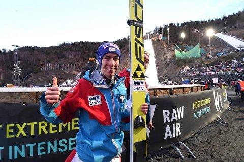 SEIRET: Stefan Kraft gikk av med seieren i Raw Air