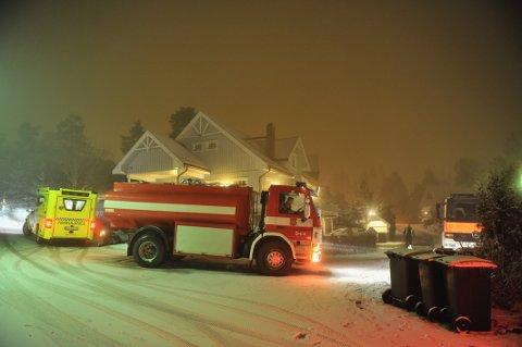 Søndagskvelden tok en brå vending i dette huset i Mårstien i Svelvik.